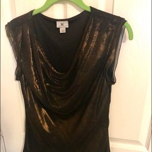 Who doesn't love gold lame? Beautiful blouse!